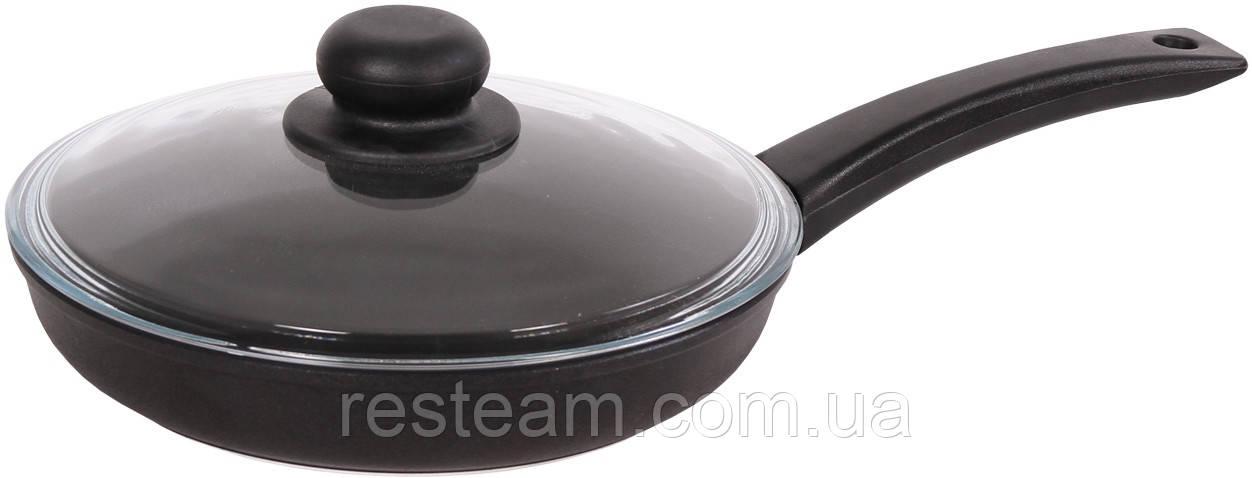 Сковородка антипригар 24 см стекл. кр. 2404РС