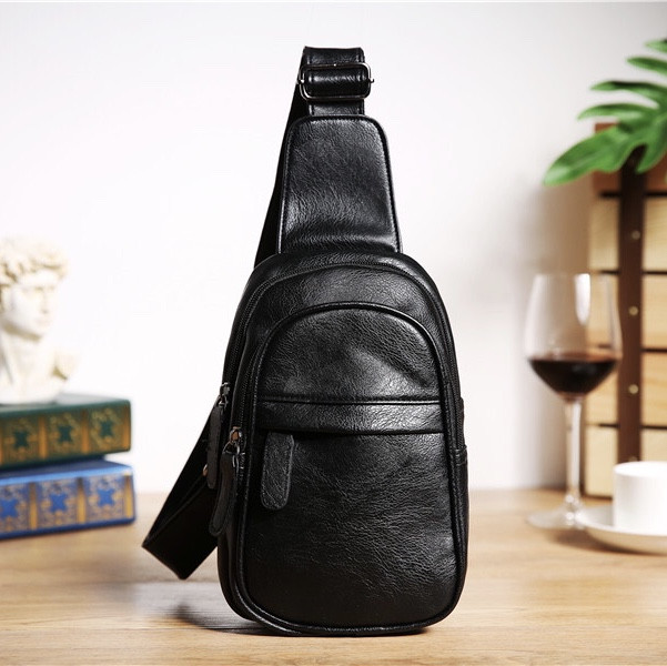 Мужская кожаная сумка. Модель 61364