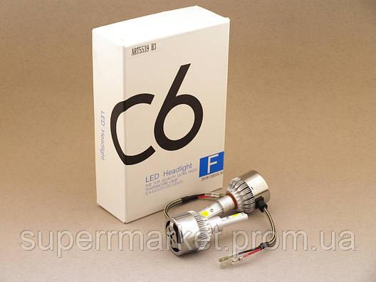 Комплект LED ламп C6 HeadLight H3 12v COB, фото 2