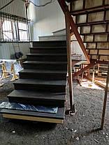 Лестницы в коттеджи на прямом косоуре, фото 2