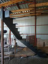 Лестницы в коттеджи на прямом косоуре, фото 3