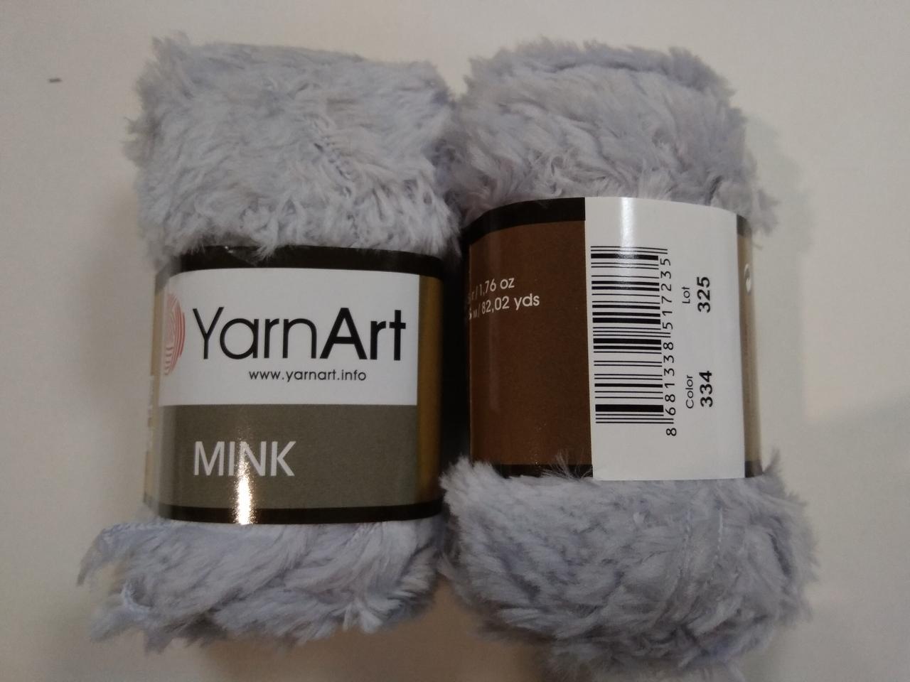Пряжа Мінк (Mink) YarnArt, колір сірий 334