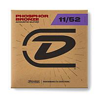 Струни для акустичної гітари DUNLOP DAP1152 Phosphor Bronze Medium Light (11-52)