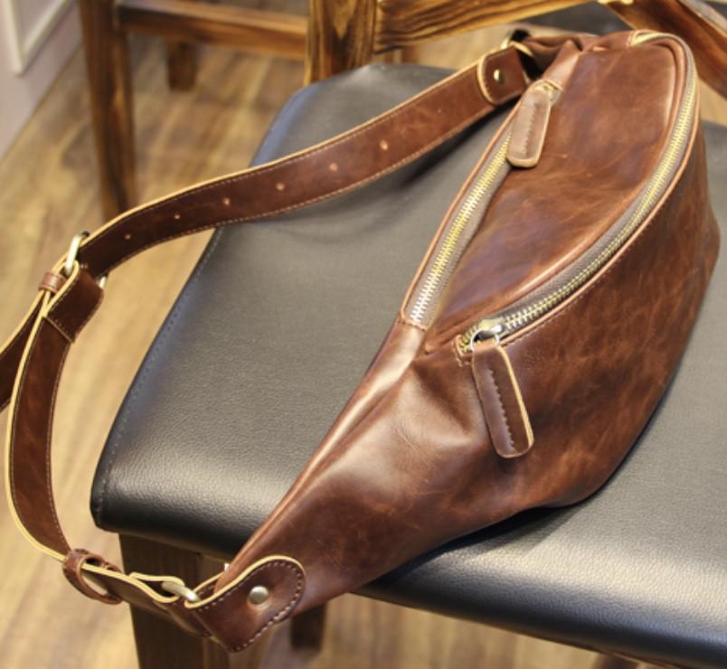 Мужская кожаная сумка. Модель 61371