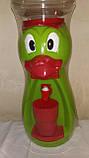 Кулер детский/ Диспенсер для воды Утка 2,5 л Красный с салатовым, фото 2