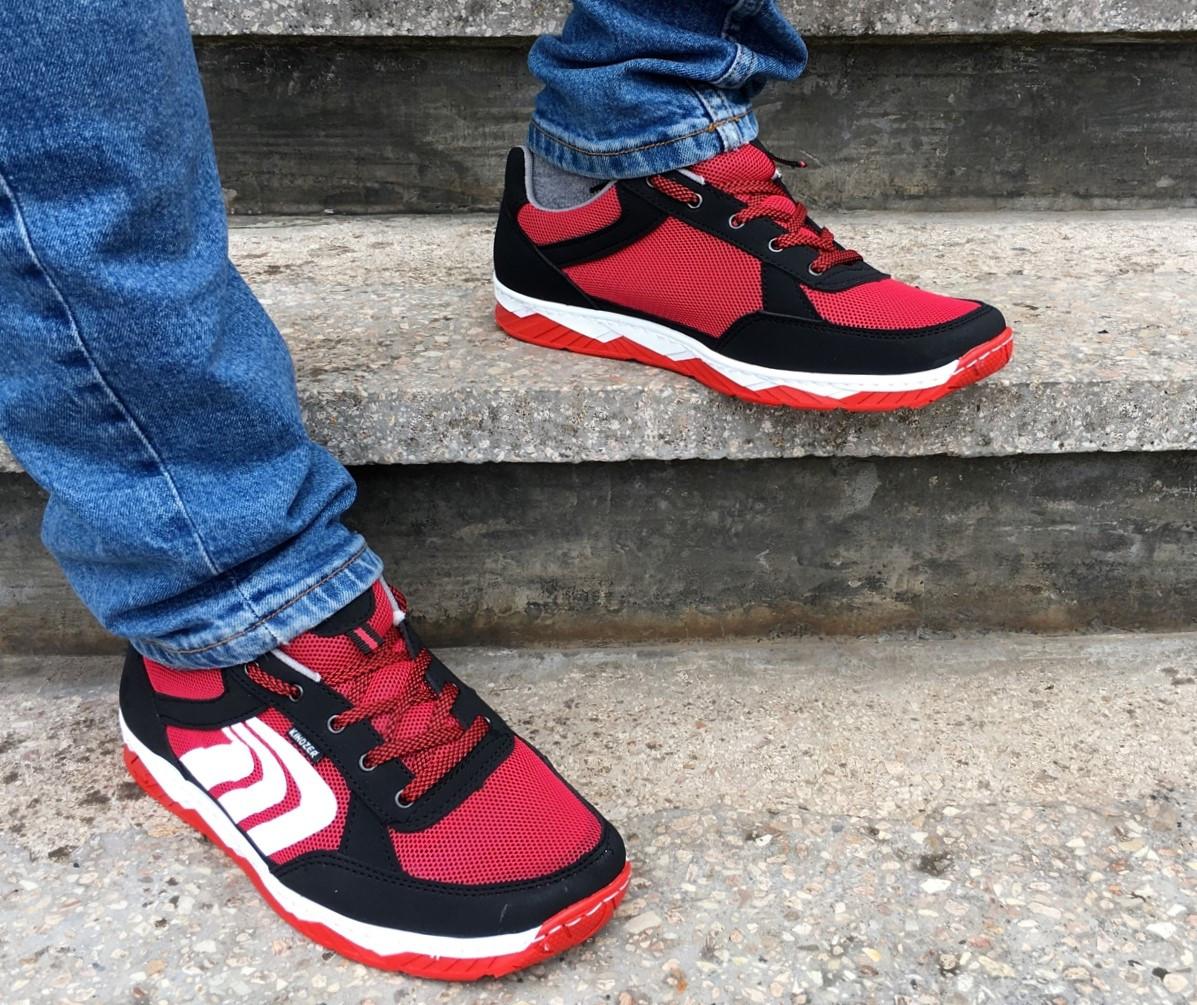 Кросівки кеди чоловічі в сіточку червоні