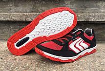 Кросівки кеди чоловічі в сіточку червоні, фото 3