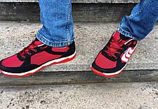 Кросівки кеди чоловічі в сіточку червоні, фото 2