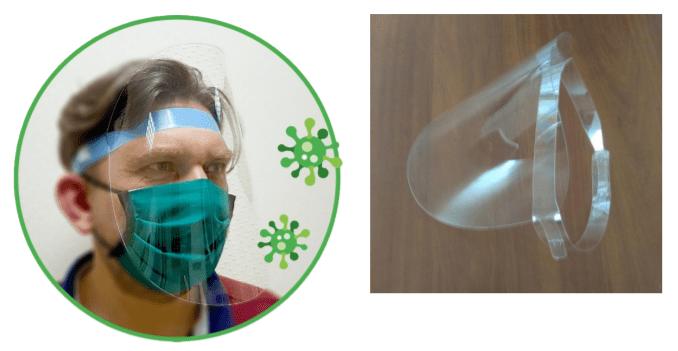 Экран-маска для защиты лица (защита от воздушно-капельного попадания вируса на лицо)