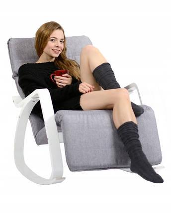 Мягкое кресло качалка для отдыха с подставкой для ног Vecotti Oscar, фото 2