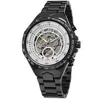 Мужские механические часы Winner 8067 Black-White Red Cristal с автоподзаводом