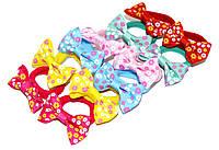 Детские Резиночки для волос с бантиком - цветочки (12 шт), фото 1