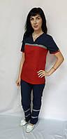 Форма для працівників Швидкої допомоги сорочкова тканина короткий рукав