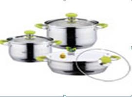 Набір каструль  BH-06-235 нерж.мат (2,9л, 3,9л +3,4л сковорідка)