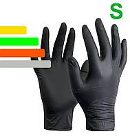 Перчатки одноразовые нитриловые черные Nitrile пара, размер S