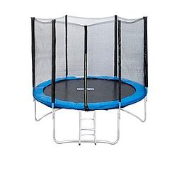 """Батут для детей с сеткой Let'sGo 10"""", 305 см + лестница в подарок"""