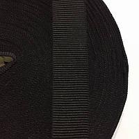 Тесьма репсовая 23мм цв черный (рул 50м) Беларусь