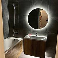 Зеркало в ванную комнату с led-подсветкой на стену Сold Moon