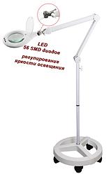 Лампа-лупа на штативі з регулюванням яскравості освітлення 8066 D5-U LED