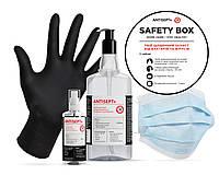 Защитный набор антисептики перчатки маски Safety box work hard/stay healthy