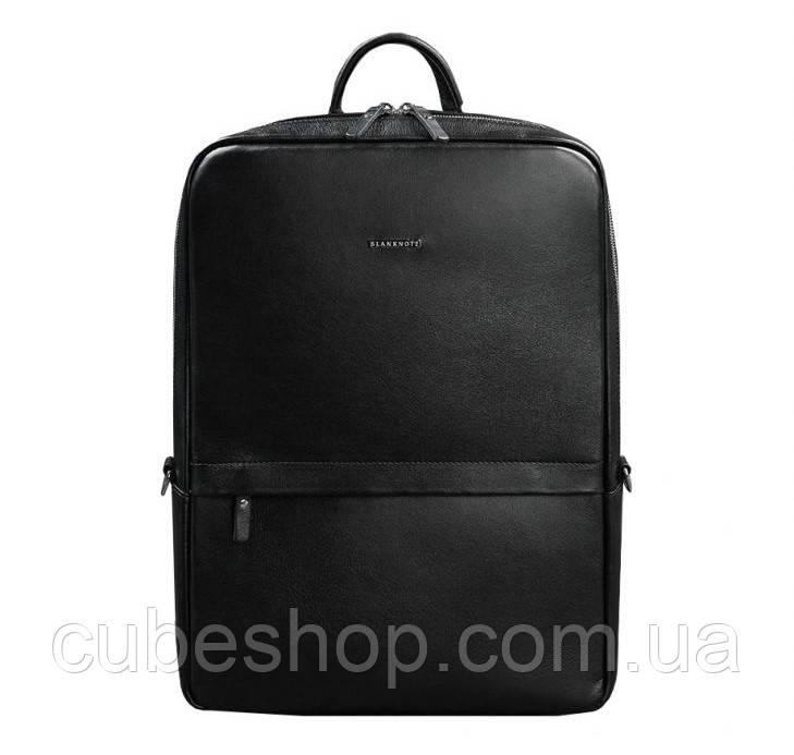 Мужской кожаный рюкзак Foster (черный)
