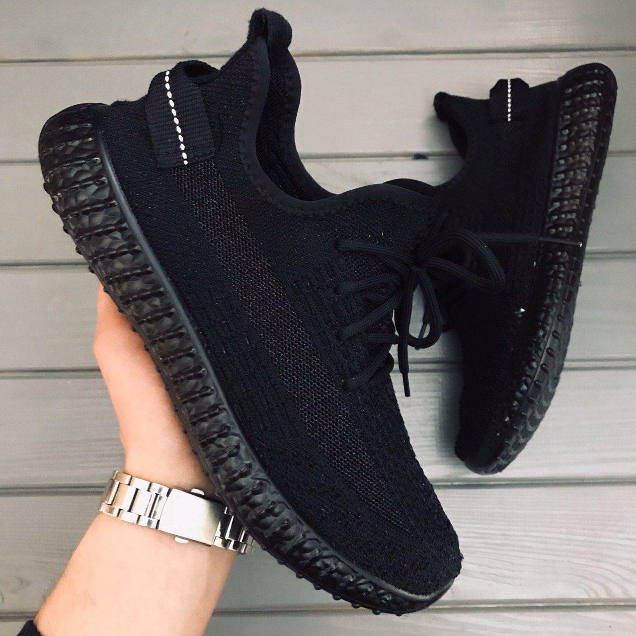 Мужские кроссовки Adidas Yeezy Boost 350 V2 Cinder Black  / Адидас Изи Буст 350 В2 Черные