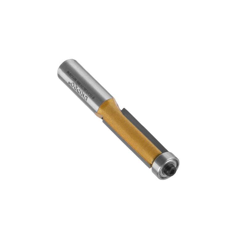 Фреза Dnipro-M B0106 12х12,7х12,7х L-38, прямая кромочная, нижний подшипник, 2 кромки