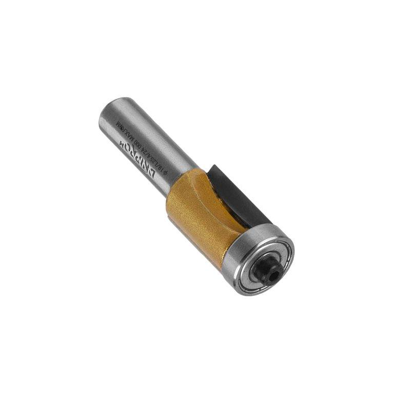 Фреза Dnipro-M B0108 12х19х19х L-25,4, прямая кромочная, нижний подшипник, 2 кромки
