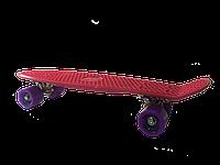 Пенни борд GO Travel 56 см Фуксия с фиолетовыми колесами (LS-P2206RPS)