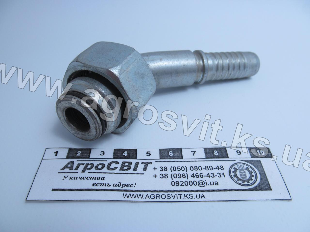 Ниппель DKOL М30х2,0 (под шланг dу=16 мм.) (угол 45 °)