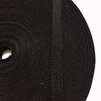 Лента репсовая цв черный 10мм (боб 25,300м) 01с3009-Л