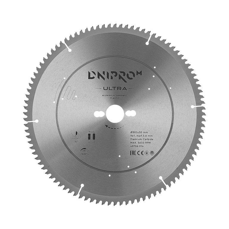 Пильный диск Dnipro-M ULTRA 305 мм 30 25.4 96T (алюм. ламин. пласт.)