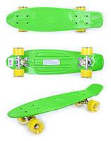 Пенни борд GO Travel желто-зеленый 56 см (LS-P2206GYT)