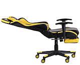 Офисное геймерское кресло VR Racer Dexter Megatron черный/желтый AMF (бесплатная адресная доставка), фото 5