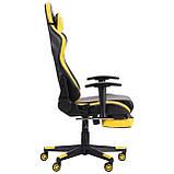 Офисное геймерское кресло VR Racer Dexter Megatron черный/желтый AMF (бесплатная адресная доставка), фото 6