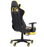Офисное геймерское кресло VR Racer Dexter Megatron черный/желтый AMF (бесплатная адресная доставка), фото 4