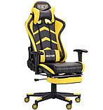 Офисное геймерское кресло VR Racer Dexter Megatron черный/желтый AMF (бесплатная адресная доставка), фото 2