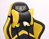 Офисное геймерское кресло VR Racer Dexter Megatron черный/желтый AMF (бесплатная адресная доставка), фото 8