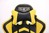 Офисное геймерское кресло VR Racer Dexter Megatron черный/желтый AMF (бесплатная адресная доставка), фото 9