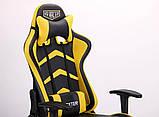Офисное геймерское кресло VR Racer Dexter Megatron черный/желтый AMF (бесплатная адресная доставка), фото 10