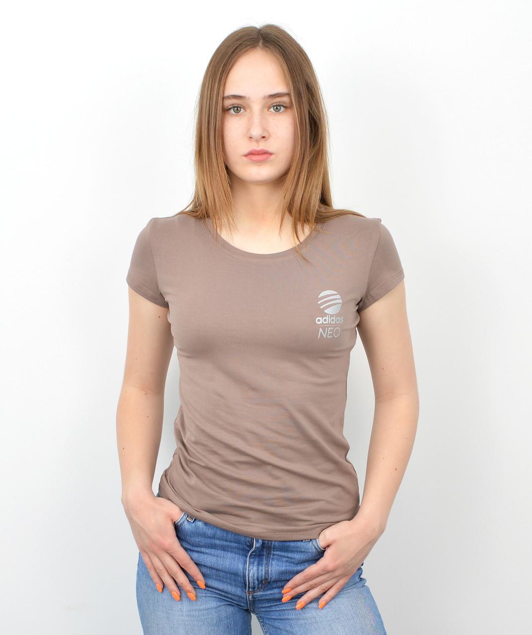 Женская футболка оптом спорт S0220 Капучино