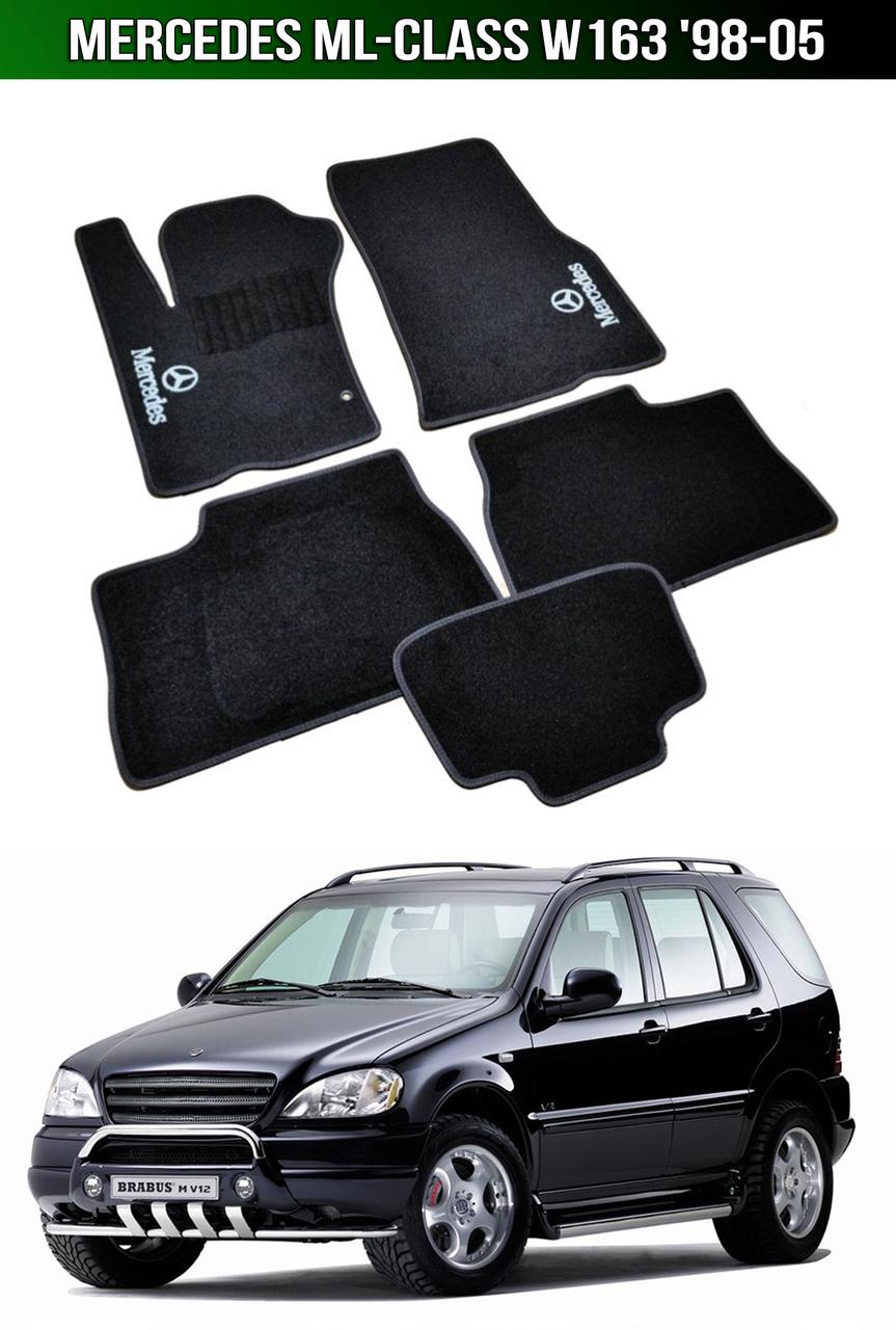 Коврики Mercedes ML-Class W163 '98-05. Текстильные автоковрики Мерседес
