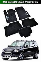 Коврики Mercedes ML-Class W163 '98-05. Текстильные автоковрики Мерседес, фото 1