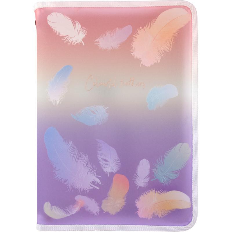 Папка на молнии Axent Colourful Feather 02 А4+