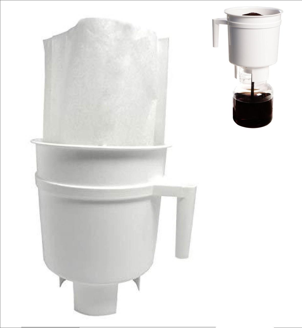 Бумажные одноразовые фильтры, белые 1 шт. для Тодди колд брю на 2 л.