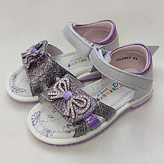 Детские сандалии сандали босоножки для девочки 22р 14см сиреневые Bessky