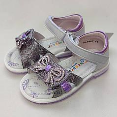 Детские сандалии сандали босоножки для девочки 23р 15см сиреневые Bessky