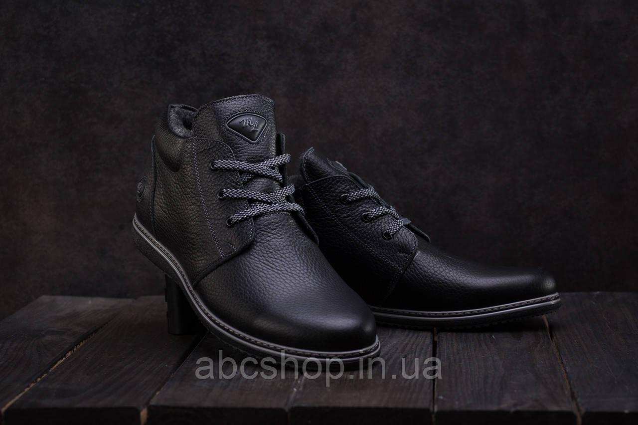 Ботинки мужские Milord ТЮ черные (натуральная кожа, зима)