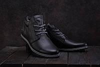 Ботинки мужские Milord ТЮ черные (натуральная кожа, зима), фото 1