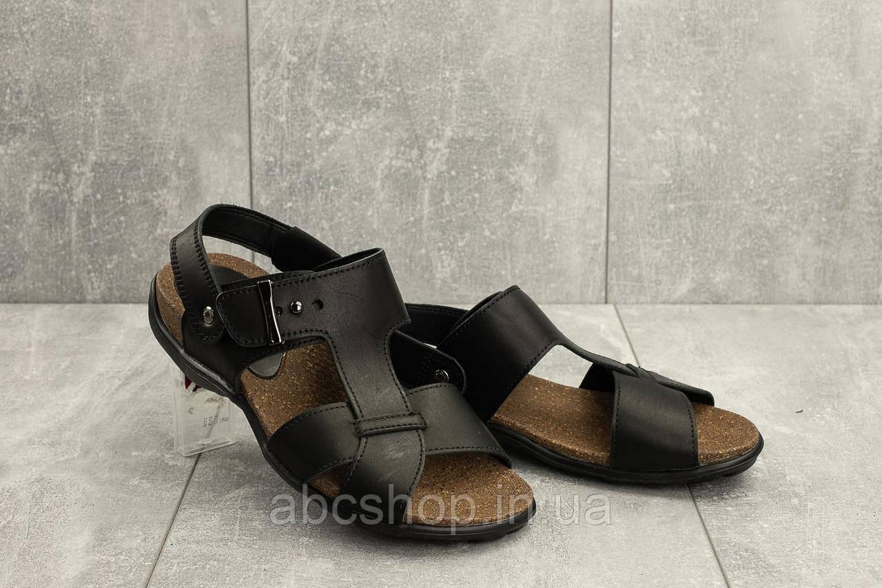 Босоножки StepWey 1075 (лето, мужские, натуральная кожа, черный-коричневый)